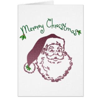 Arte tradicional del navidad del padre tarjetas