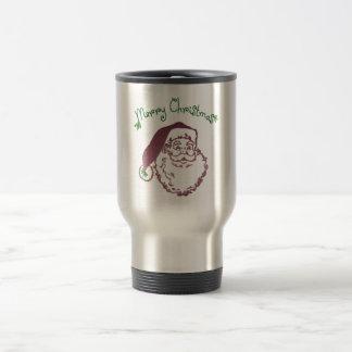 Arte tradicional del navidad del padre taza de viaje de acero inoxidable