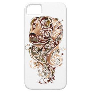 Arte tribal del perro del amante del mascota iPhone 5 Case-Mate protectores
