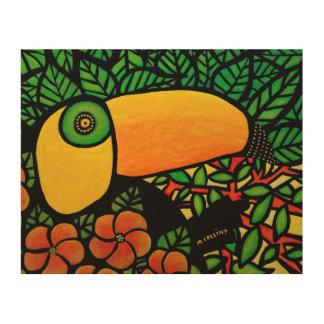 Arte tropical colorido de la original de Toucan