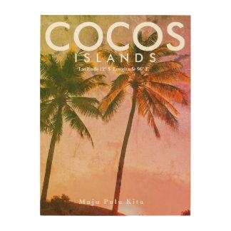 Arte tropical del viaje del vintage - isla de
