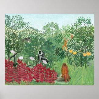 Arte tropical restaurado de la selva de Henri