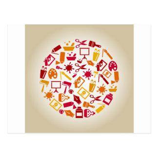 Arte un círculo postal