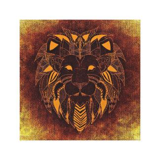 Arte único de la lona del león