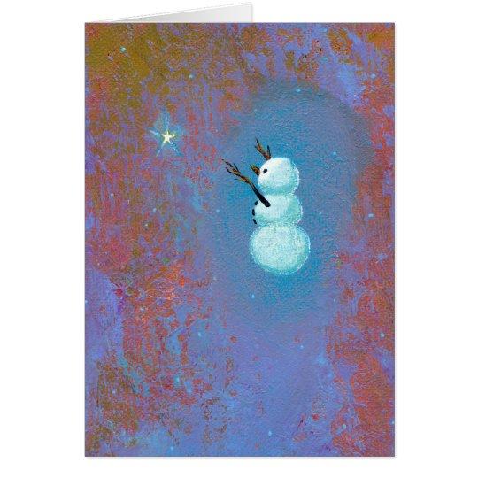 Arte único del navidad del día de fiesta de la tarjeta de felicitación
