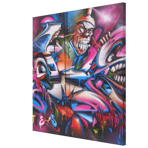 Arte urbano de la calle de la pintada del golpeado impresión en lienzo estirada