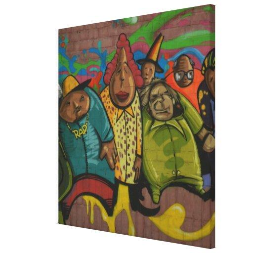Arte urbano de la calle de la pintada del golpeado impresiones de lienzo