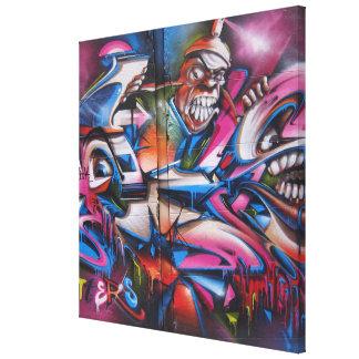 Arte urbano de la calle de la pintada del impresión en lienzo estirada