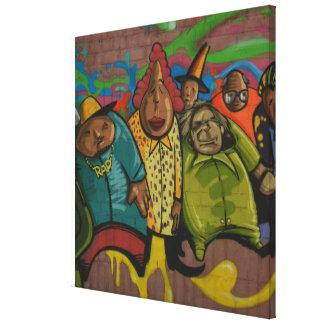 Arte urbano de la calle de la pintada del impresiones de lienzo