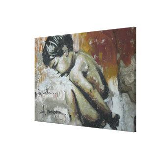 Arte urbano de la calle de la pintada del niño de impresión en lona estirada