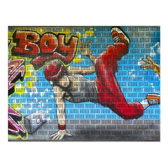 Arte urbano de la calle de la rotura de la pintada postal