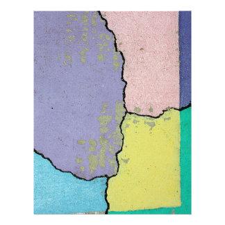 Arte urbano de la calle en pasteles en el cemento folleto 21,6 x 28 cm