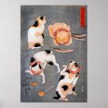 Arte Utagawa Kuniyoshi de Ukiyo-e de cuatro