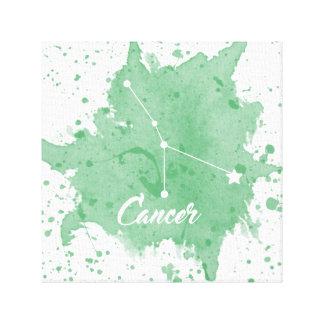 Arte verde de la pared del cáncer