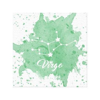 Arte verde de la pared del virgo