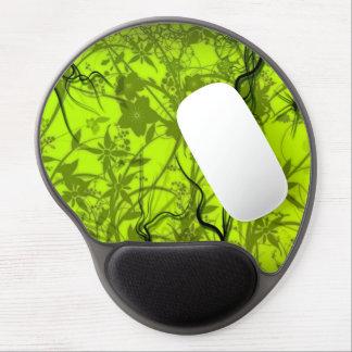 arte verde del vector de los flovers del remolino alfombrilla con gel