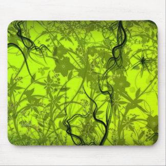 arte verde del vector de los flovers del remolino tapetes de ratón