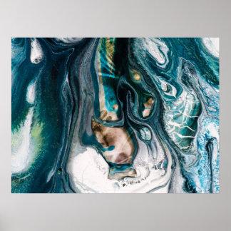 Arte veteado del océano de Abstact del trullo
