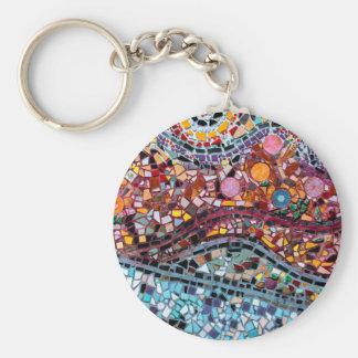 Arte vibrante de la pared del mosaico llavero redondo tipo chapa