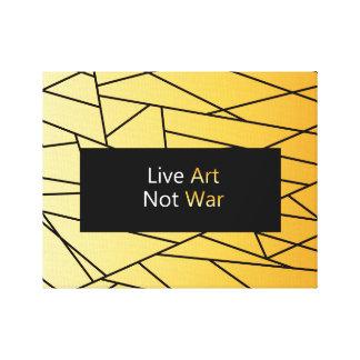 Arte vivo. ¡No guerra! Nueva lona con el mensaje
