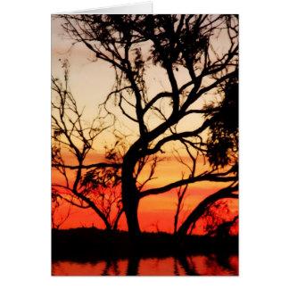 Arte vivo: Tarjeta de la silueta de la naturaleza