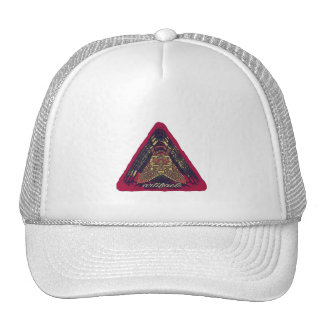 ¿artefactos - algo en su mente? logotipo rosado v2 gorras