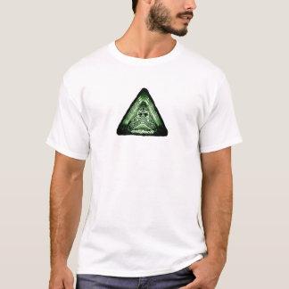 ¿artefactos - algo en su pecho? t2 verde camiseta