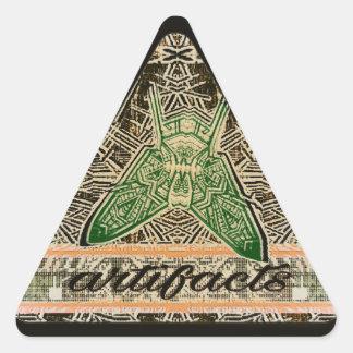 artefactos - tri mosca var 9 pegatina triangular