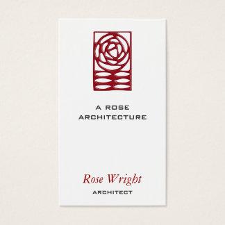 Artes color de rosa y ornamento de los artes tarjeta de negocios