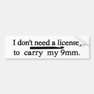 Artes de la licencia del gancho de ganchillo pegatina para coche