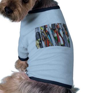 Artes de pesca camiseta con mangas para perro