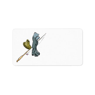 Artes de pesca etiqueta de dirección