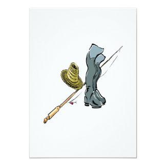 Artes de pesca invitación 12,7 x 17,8 cm