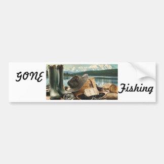Artes de pesca pegatina para coche