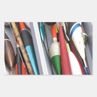 Artes de pesca pegatina rectangular