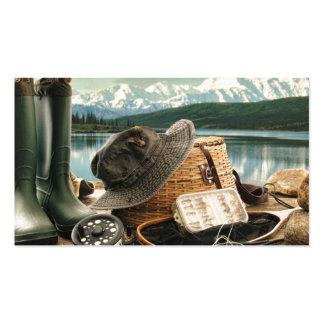 Artes de pesca tarjetas de visita