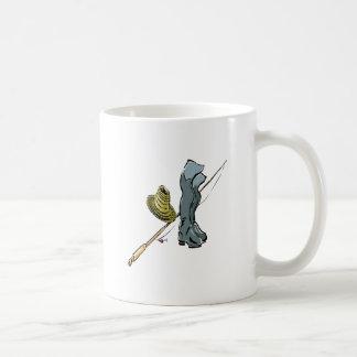 Artes de pesca taza básica blanca