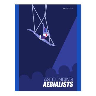 Artes del circo de Brattleboro - Aerialists Postal