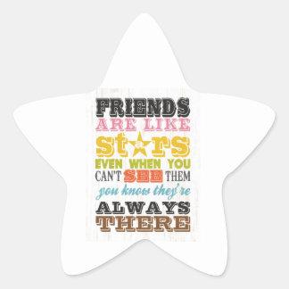 Artes inspirados - los amigos son como las pegatina en forma de estrella