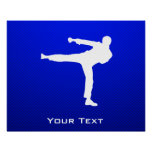 Artes marciales azules posters