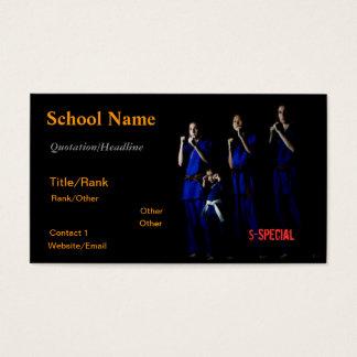 Artes marciales de la familia tarjeta de negocios