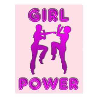 Artes marciales del poder del chica Sparring la Postal