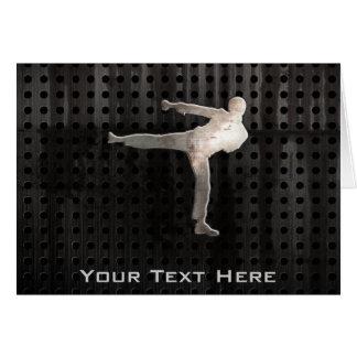 Artes marciales frescos tarjeta de felicitación