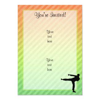 Artes marciales invitación 12,7 x 17,8 cm
