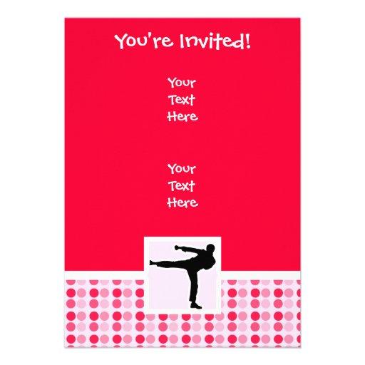 Artes marciales lindos invitaciones personales