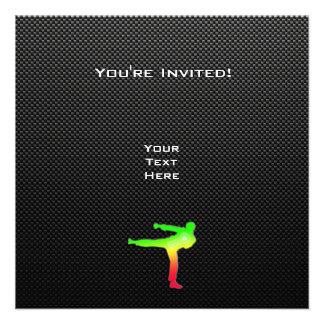 Artes marciales lisos invitacion personalizada