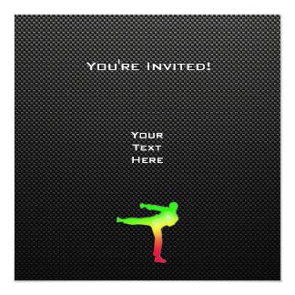 Artes marciales lisos invitación 13,3 cm x 13,3cm