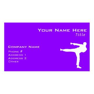 Artes marciales púrpuras violetas plantillas de tarjetas personales