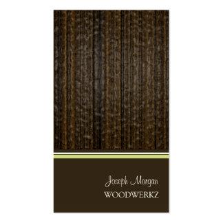 Artesanías en madera, solando tarjetas de visita