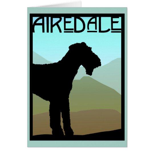 Artesano Airedale Terrier Tarjeta De Felicitación